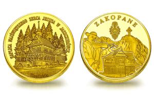 Medal pamiątkowy z Limitowanej Kolekcji Złotej Polski: Kaplica Najświętszego Serca Jezusa na Jaszczurówce w Zakopanem SPL_001