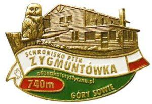 Odznaka Schronisko PTTK Zygmuntówka 038