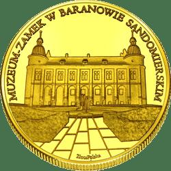 Medal: Zamek w Baranowie Sandomierskim zegar 375