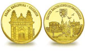 Medal pamiątkowy z Limitowanej Kolekcji Złotej Polski: Brama Królewska w Szczecinie SPL_005