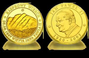 Medal pamiątkowy Kasprowy Wierch JPII 029
