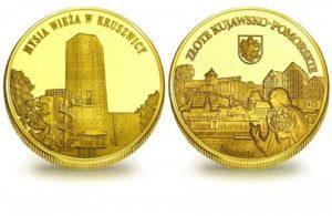 Medal pamiątkowy z Limitowanej Kolekcji Złotej Polski: Mysia Wieża w Kruszwicy SPL_009