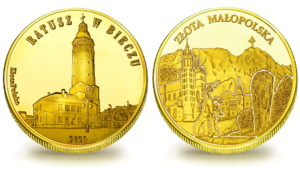 Medal pamiątkowy z Limitowanej Kolekcji Złotej Polski: Ratusz w Bieczu SPL_018