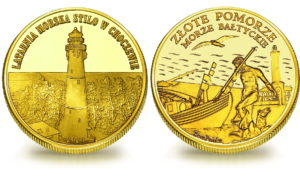 Medal pamiątkowy z Limitowanej Kolekcji Złotej Polski: Latarnia Stilo w Choczewie SPL_015