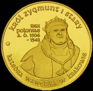 Medal: Katedra Wawelska w Krakowie Król Zygmunt I Stary 220