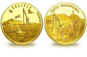 Medal pamiątkowy z Limitowanej Kolekcji Złotej Polski: Zalipie SPL_022