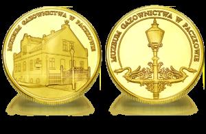Medal pamiątkowy Muzeum Gazownictwa w Paczkowie 85